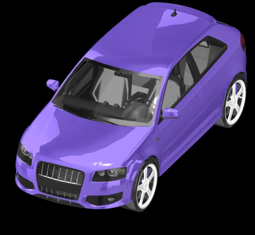 产品三维模型在线预览——轿车