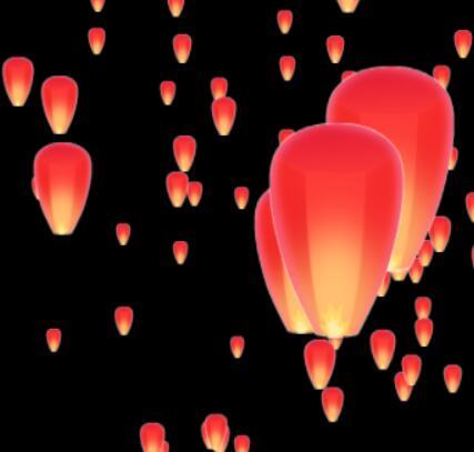 孔明灯-特效-节日祝福