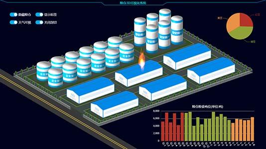 3D粮仓可视化系统