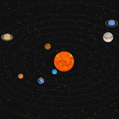 WebGl太阳系