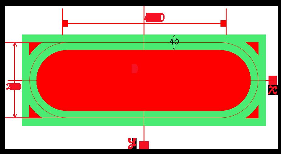 cavas跑道形状