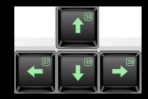 键盘方向键返回值